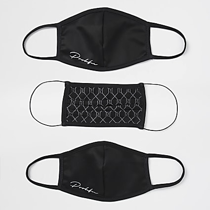 Black Prolific Monogram Mask 3 pack