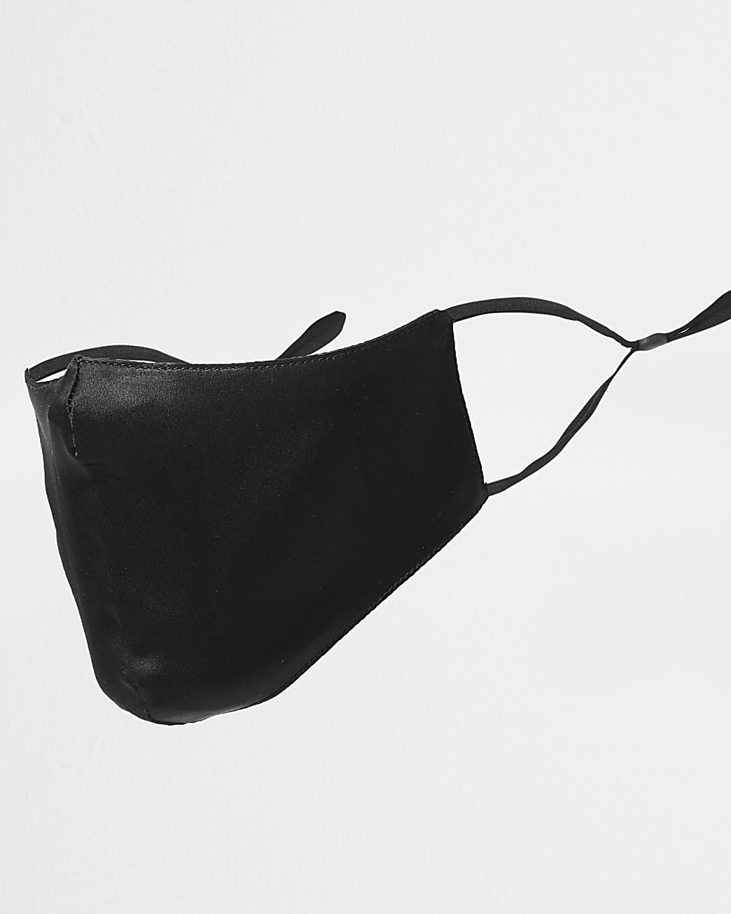 Black pure silk face covering