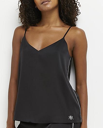 Black pyjama cami top