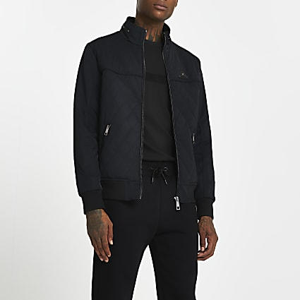 Black quilted jacket
