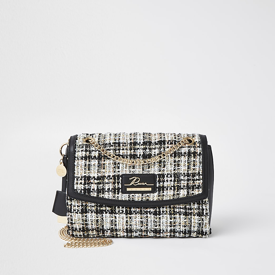 Black quilted shoulder bag