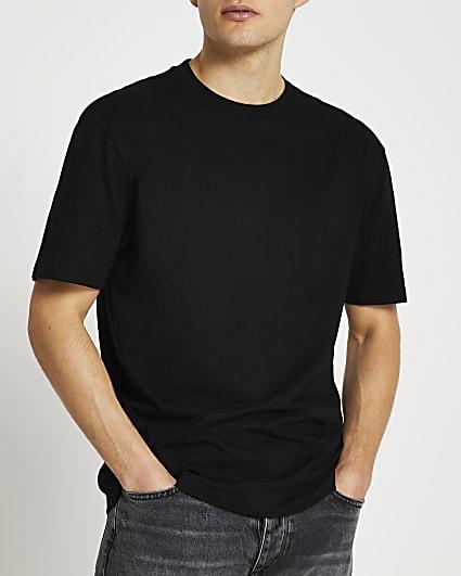 Black regular fit t-shirt