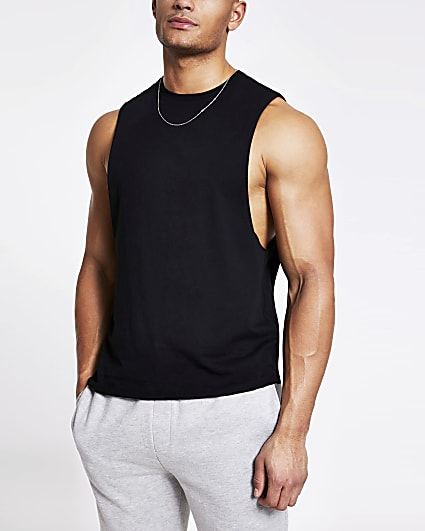 Black regular fit vest
