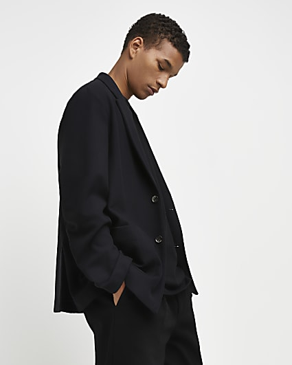 Black relaxed fit blazer