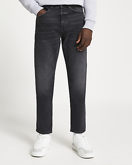 Black relaxed fit jeans