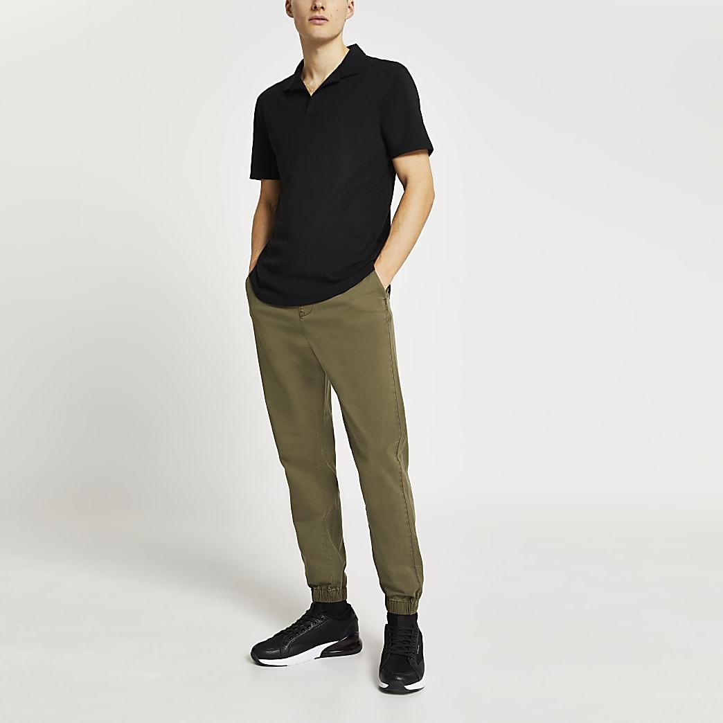 Black revere short sleeve polo shirt