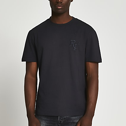 Black RI 4 washed short sleeve t-shirt
