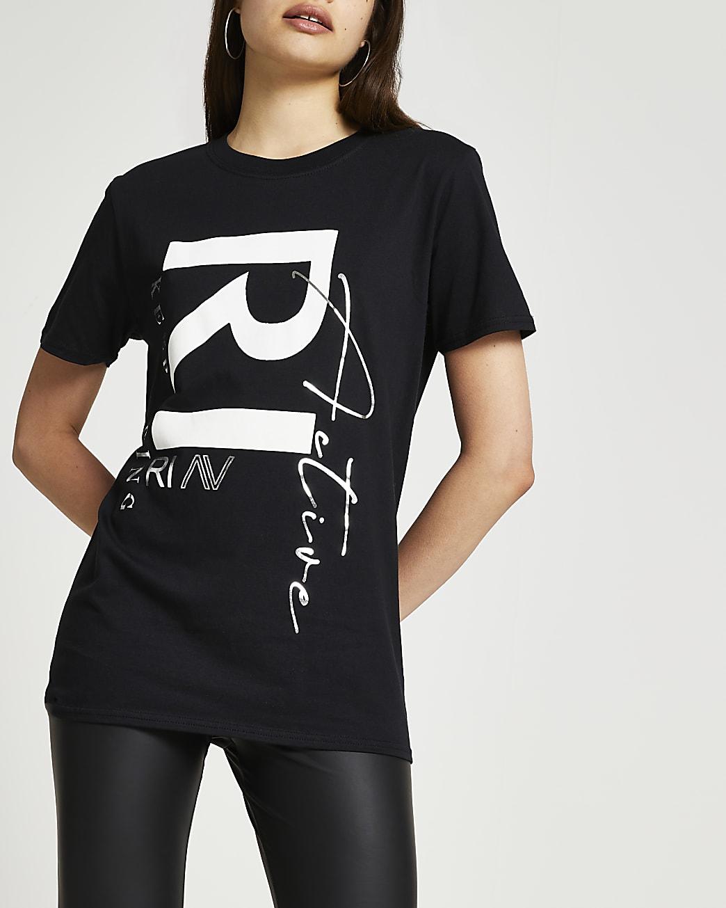 Black RI Active boyfriend t-shirt