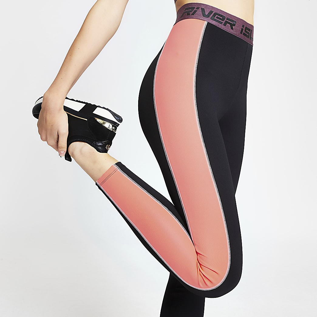 Black RI active colour block leggings
