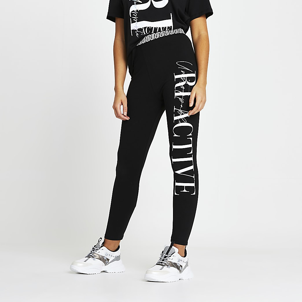 Black RI active fitted leggings