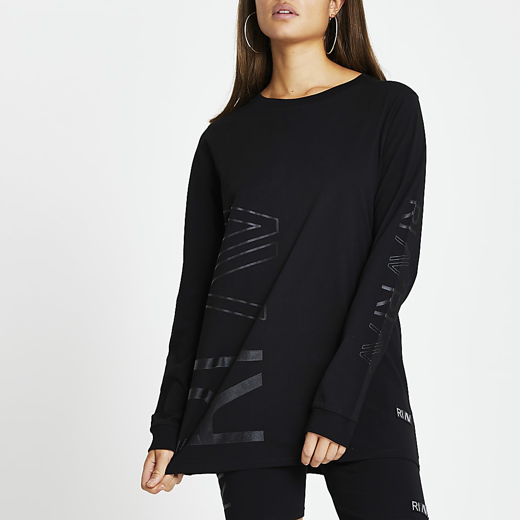 Black RI Active long sleeve top