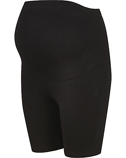 Black RI Active maternity cycling shorts