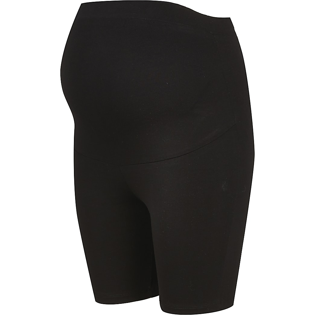 Black RI Active maternity cycling shorts