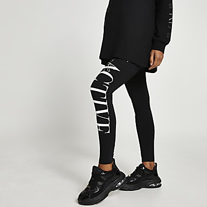 Black RI Active maternity leggings
