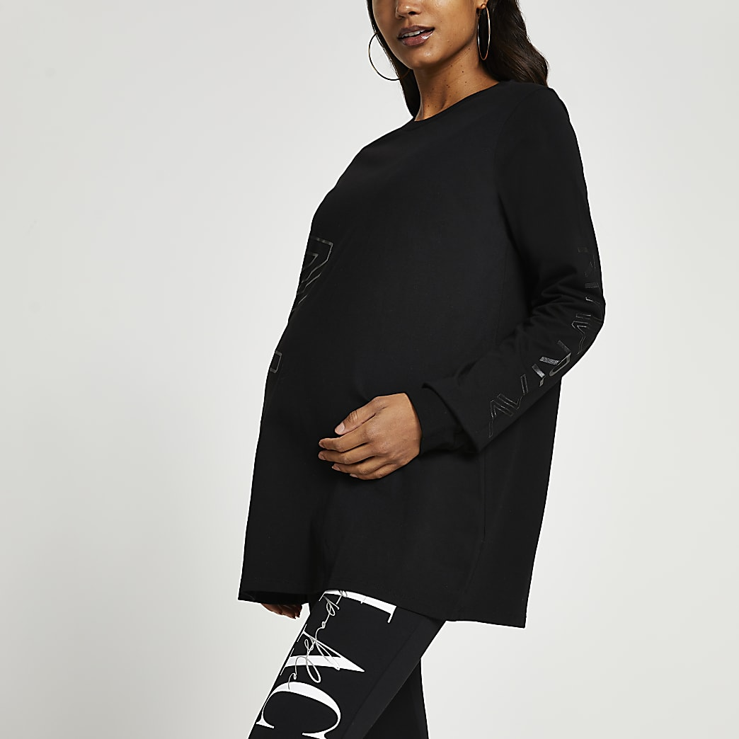 Black RI Active maternity long sleeve top