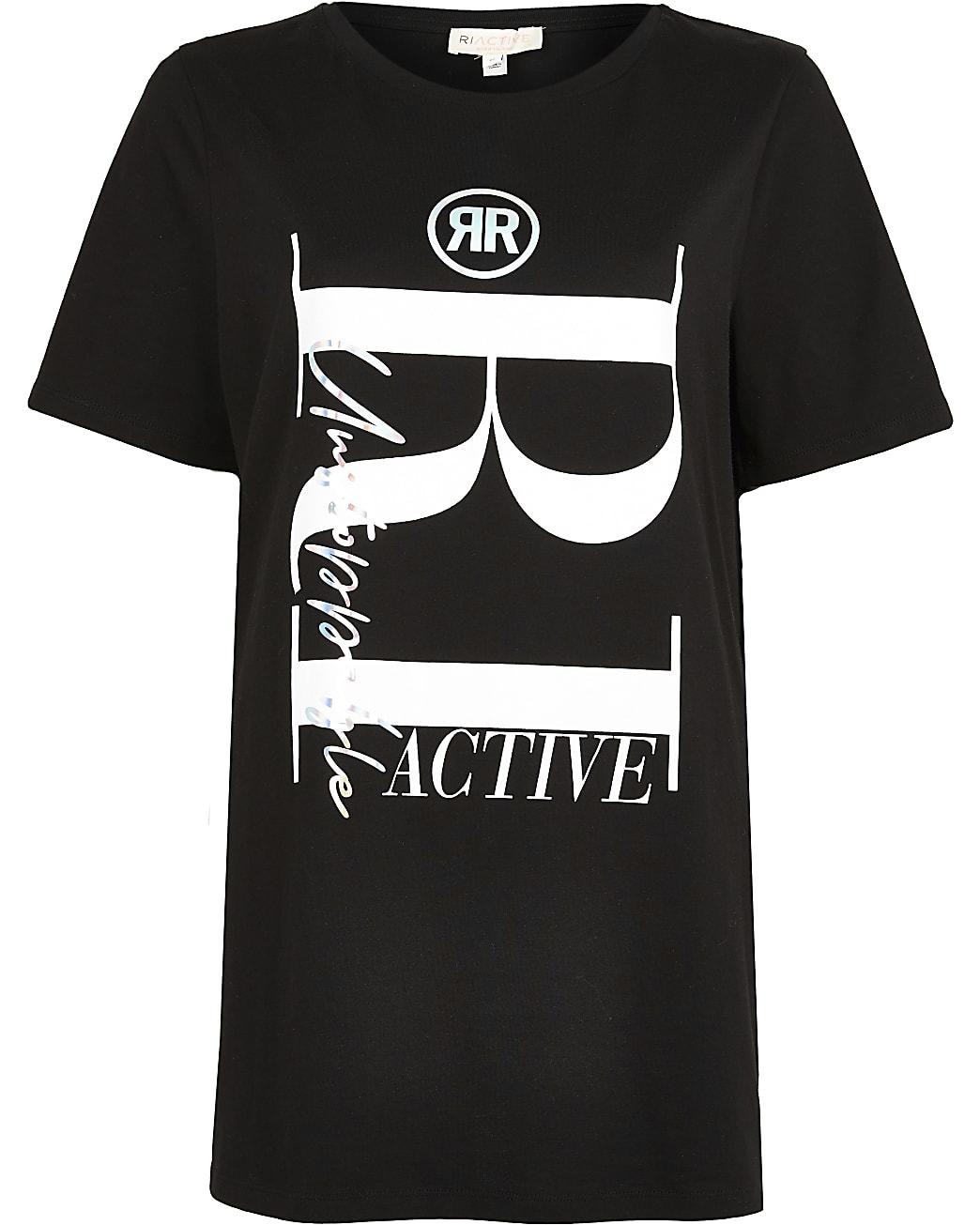 Black RI Active maternity t-shirt