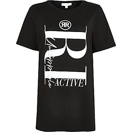 Black RI Active maternity t-shirt