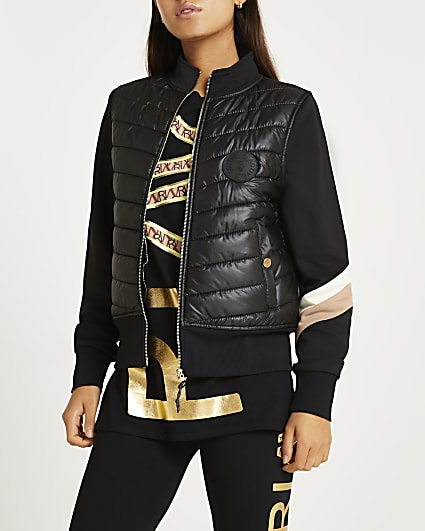 Black RI Active quilted hybrid jacket