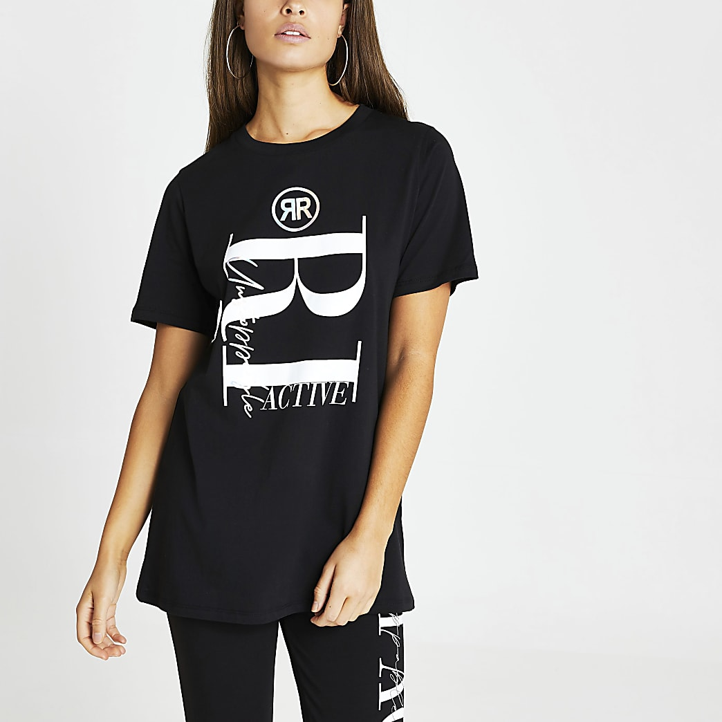 Black RI Active short sleeve t-shirt