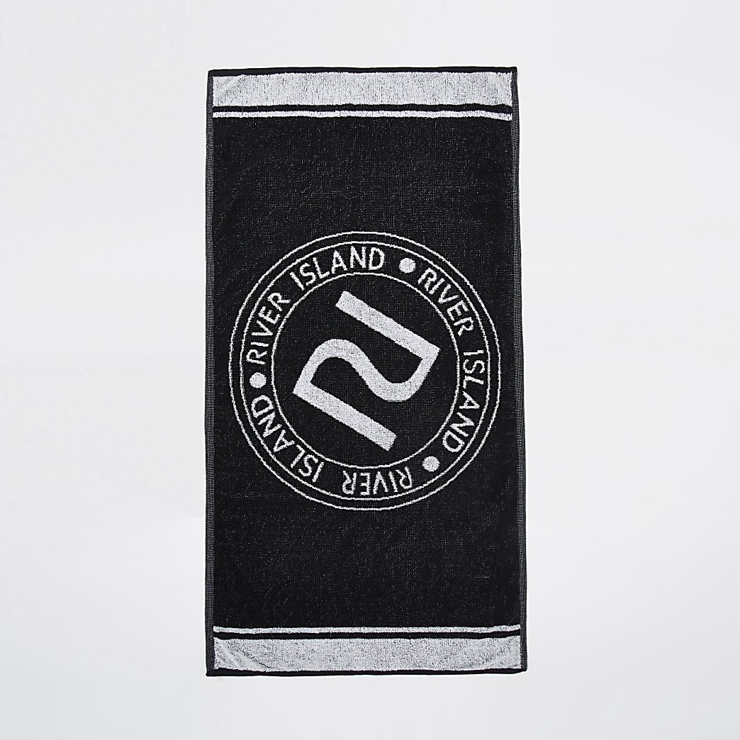 Black RI Active sports towel