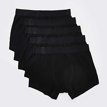 Black RI branded boxers 5 pack