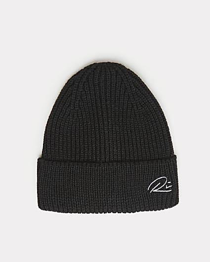 Black RI branded docker beanie hat