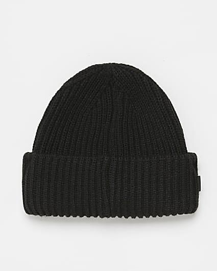 Black RI branded fisherman beanie hat
