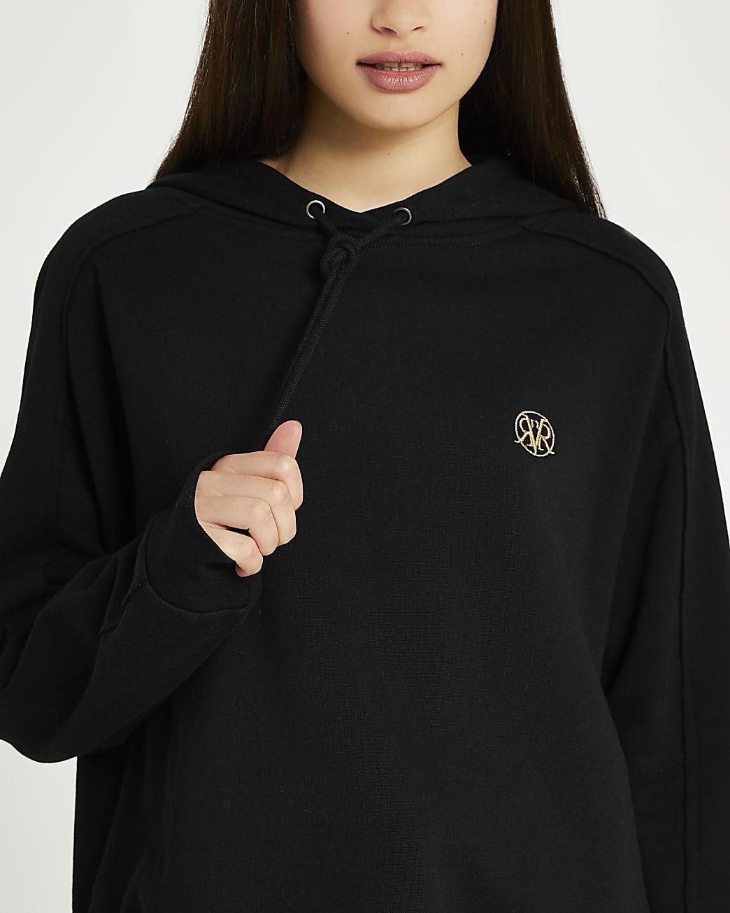 Black RI branded hoodie