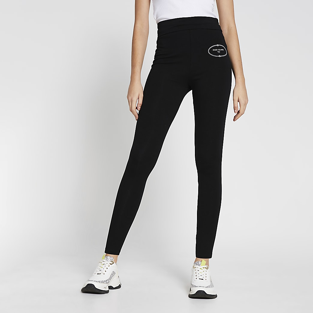 Black RI Branded Leggings