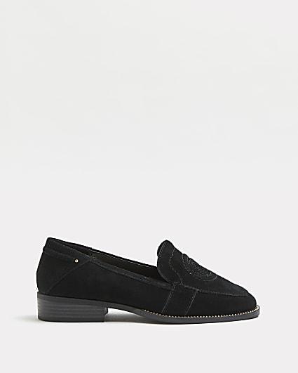Black RI branded loafers