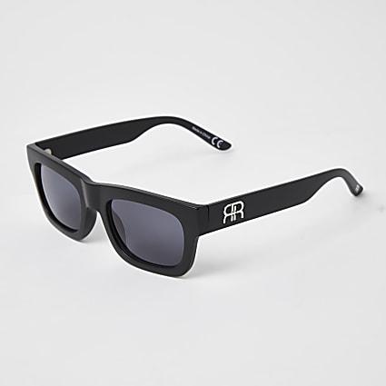 Black RI branded square frame sunglasses