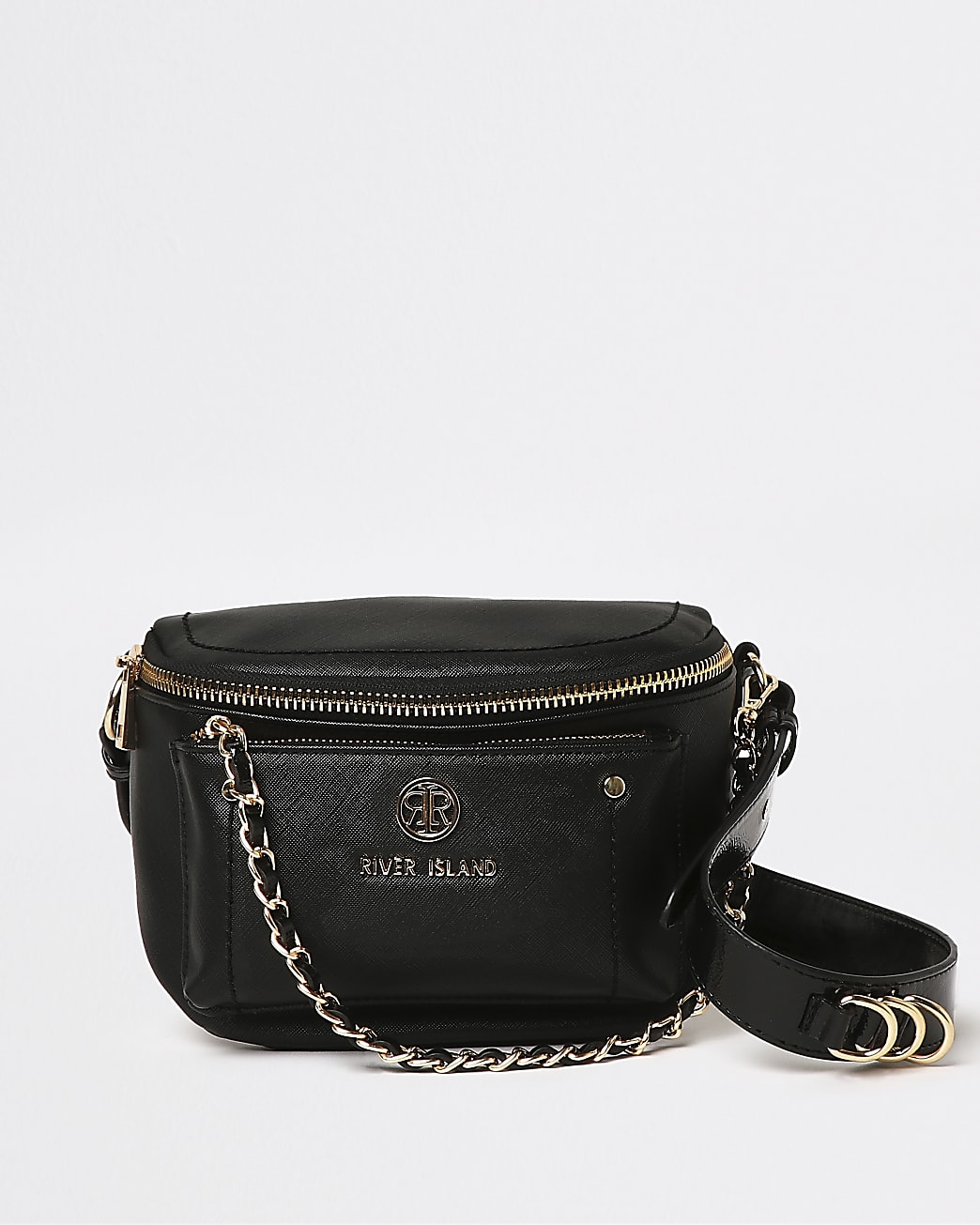 Black RI chain cross body bag