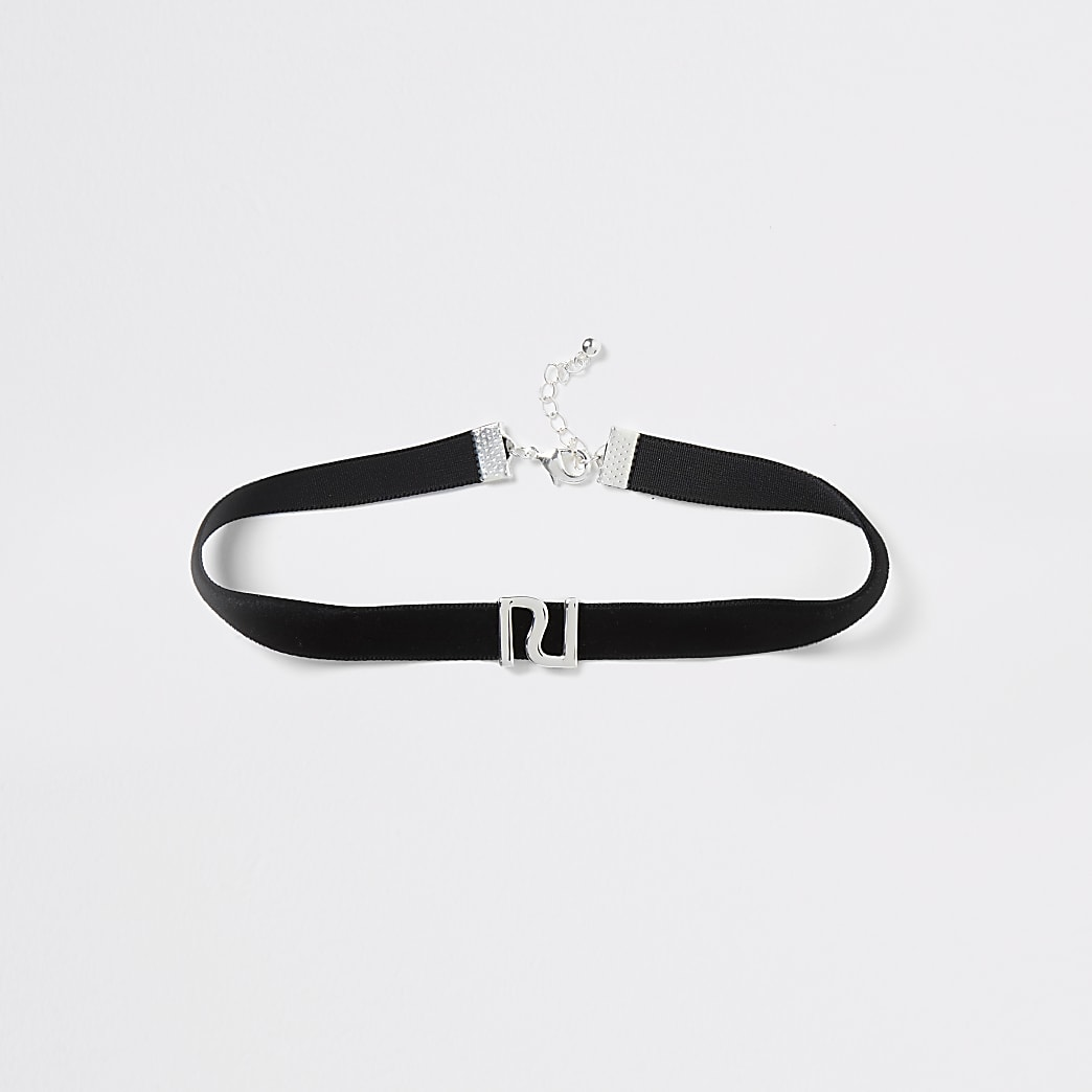 Black RI choker necklace