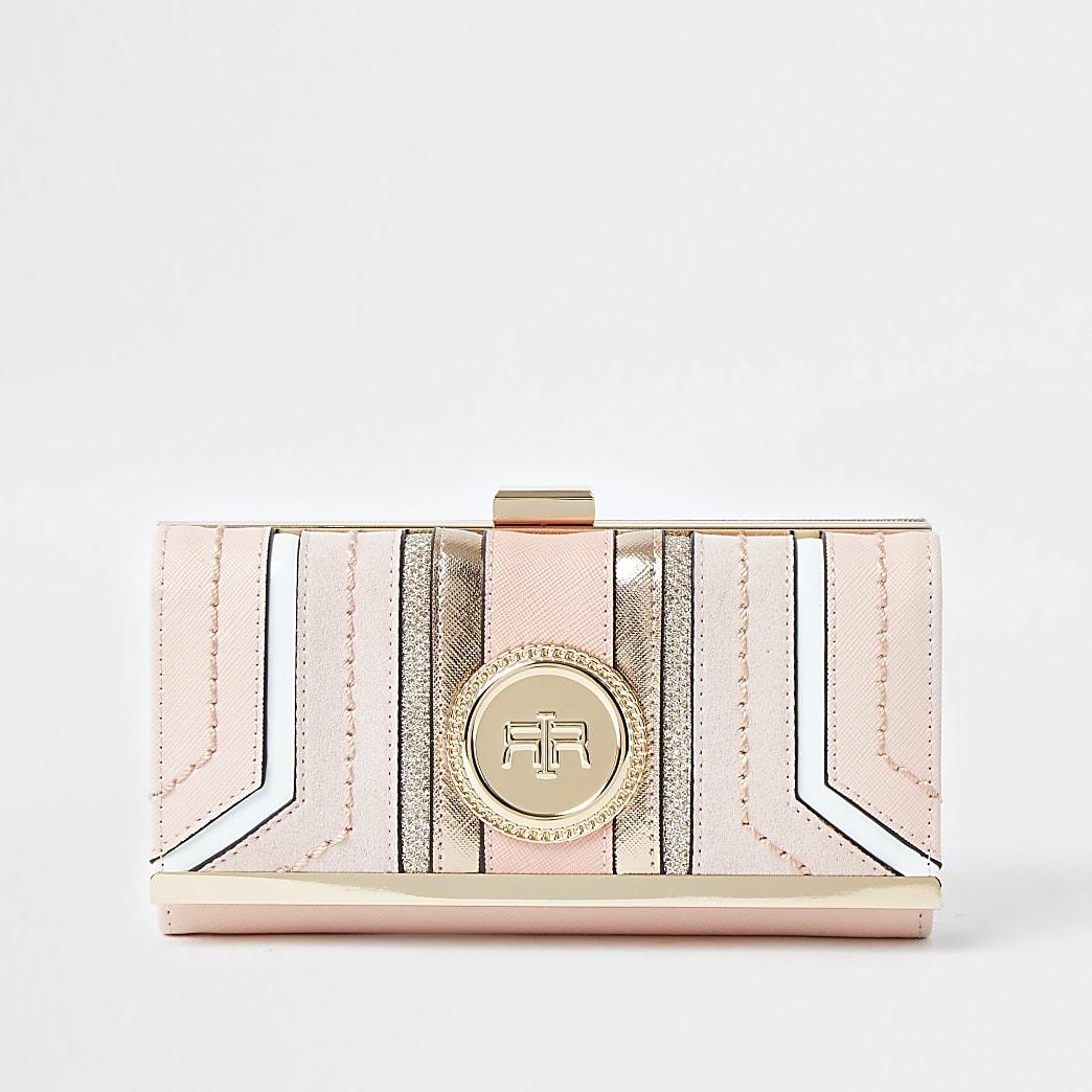 Black RI coin clip top purse