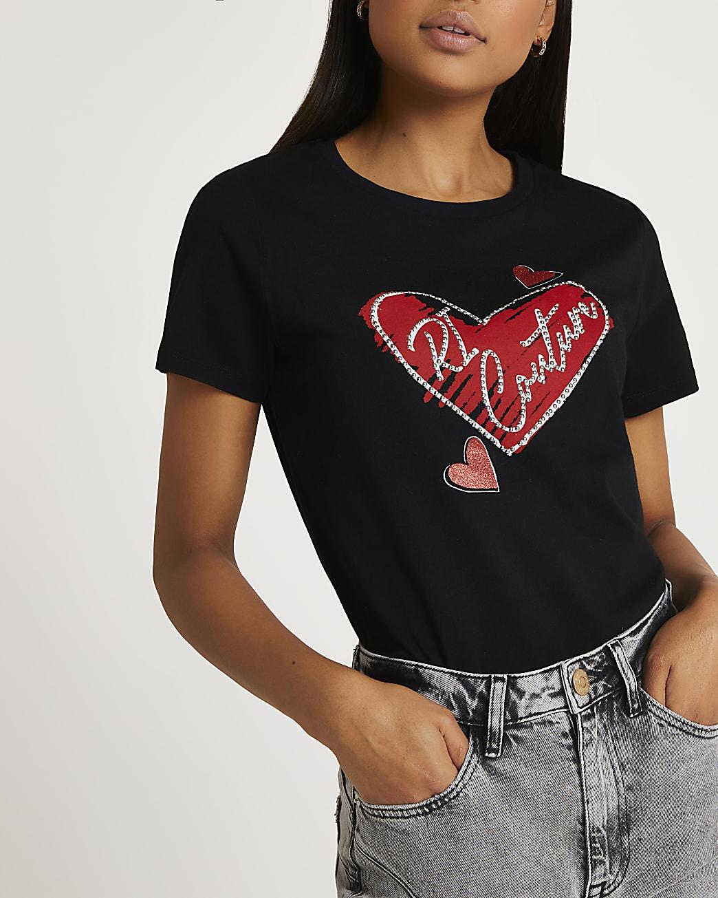 Black 'RI Couture' graphic t-shirt