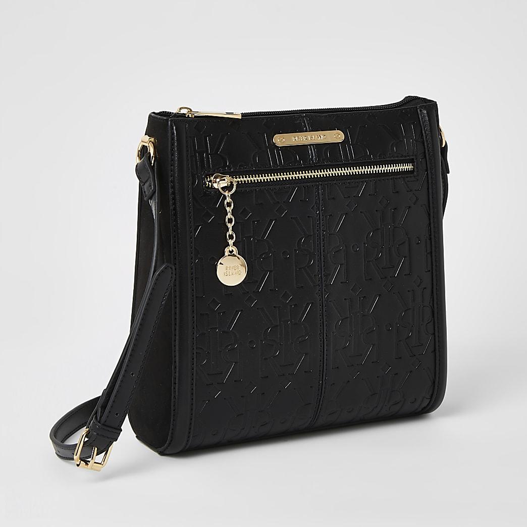 Black RI cross body messenger Handbag