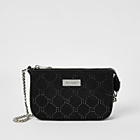 Black RI diamante embellished underarm bag