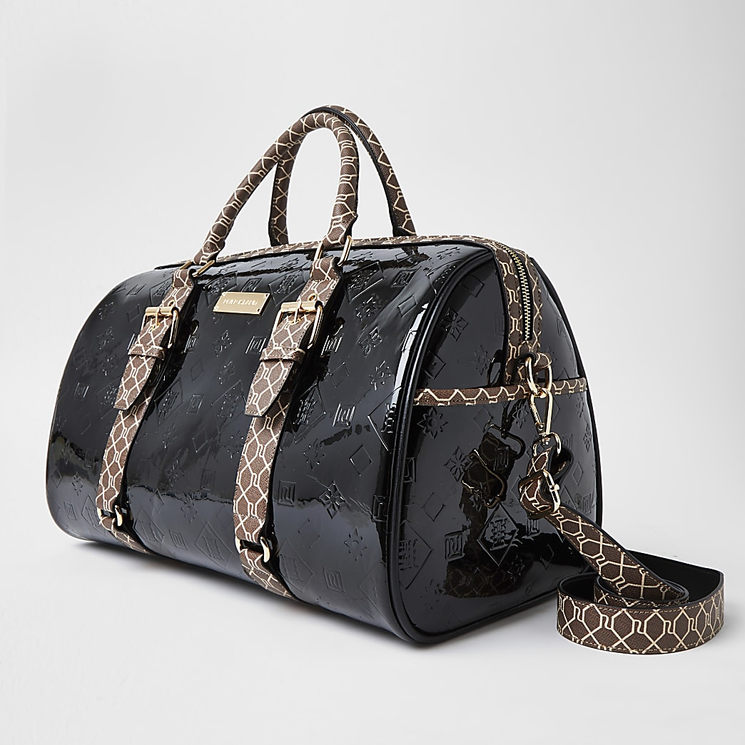 Black RI Embossed barrel bag