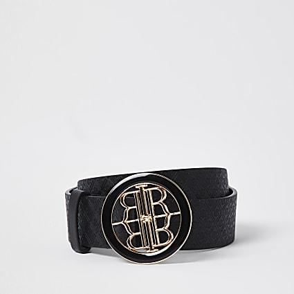Black RI embossed belt