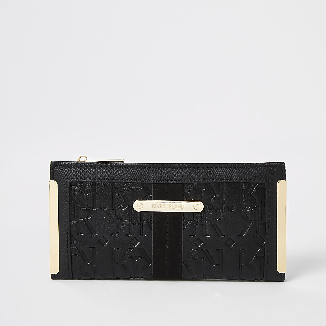 Black RI embossed fold out purse