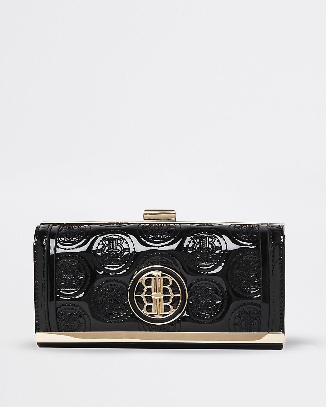 Black RI embossed purse