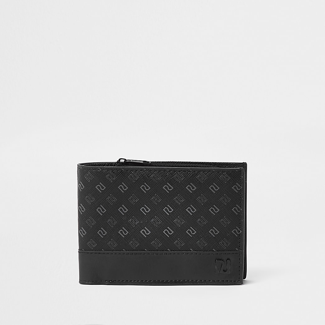 Black RI fold out wallet