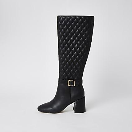 Black RI high leg boots