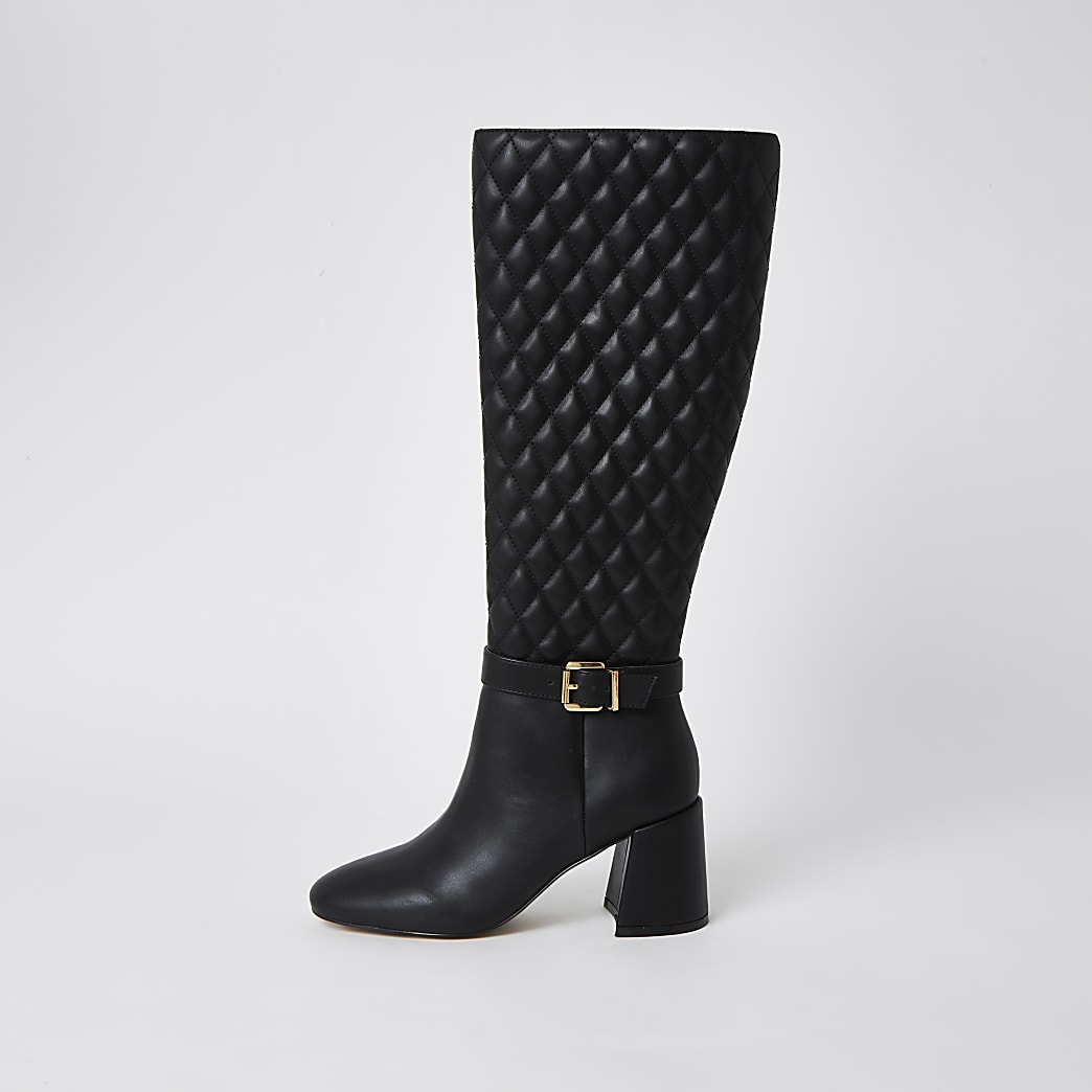 Black RI high leg boots