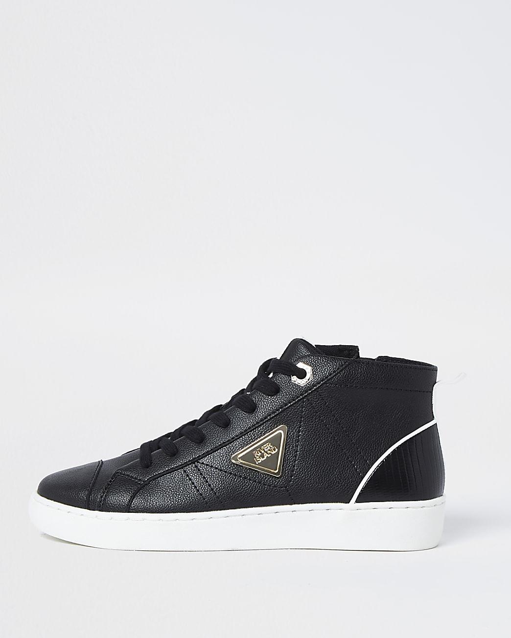 Black RI high top trainers
