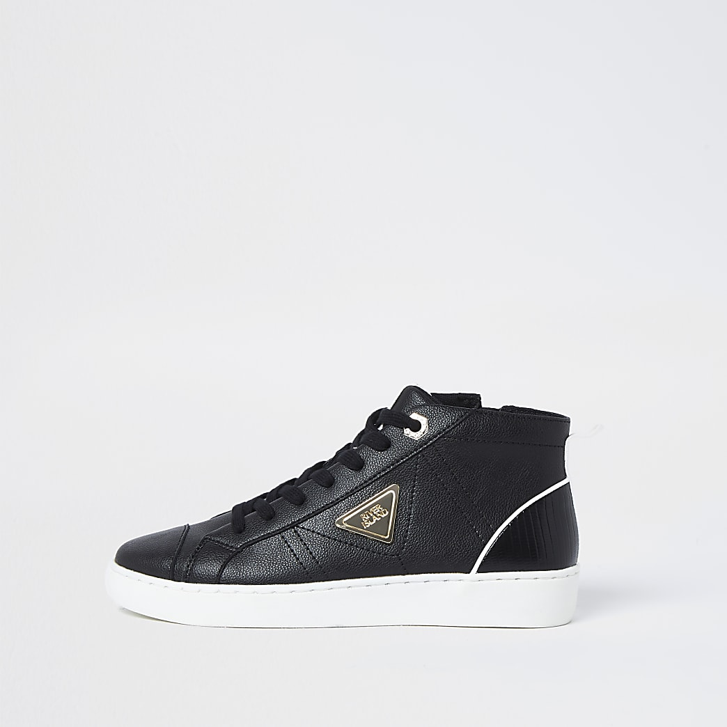 Black RI high top trainers