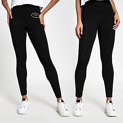Black RI leggings pack of 2