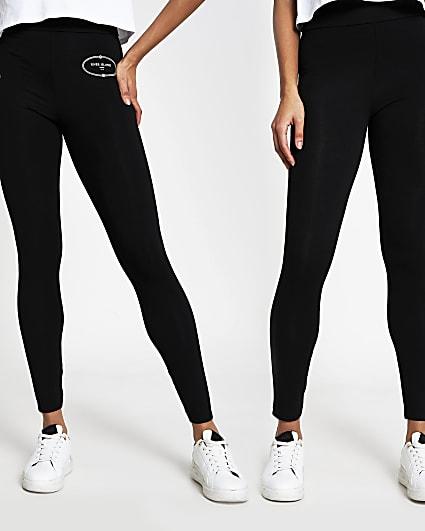 Black RI leggings pack of 2