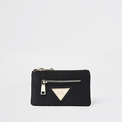 Black RI mini zip pouch purse