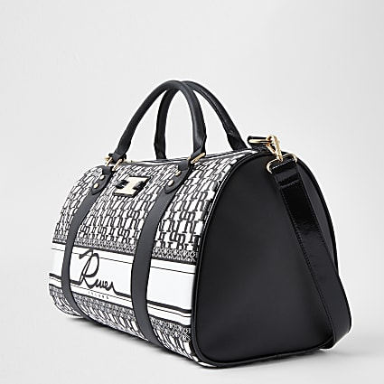 Black RI monogram barrel bag